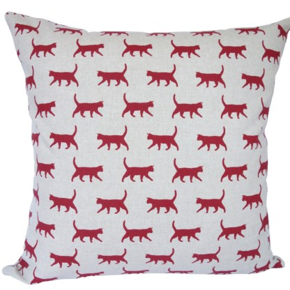 Red Cats Scatter Cushion, home decor gift