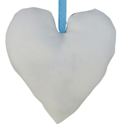 Padded Hanging Heart - Blue Bird, embroidered gift