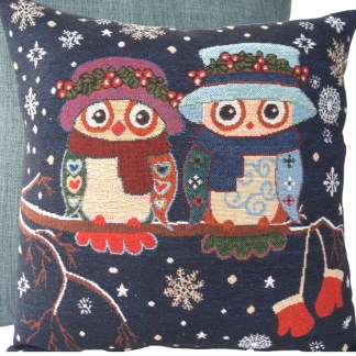 Winter Owls Feature Cushion