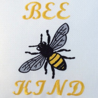 Bee Kind Embroidered Cushion - unique home gift