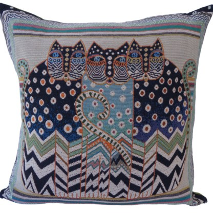 Huddled Cats Feature Cushion - home decor gift