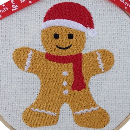Gingerbread Man Embroidered Hoop, Christmas gift / decoration