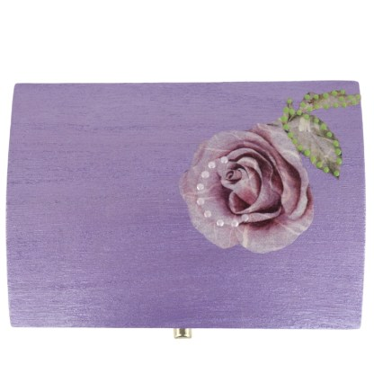 Nova 14cm Wooden Trinket Box, painted and decoupaged gift