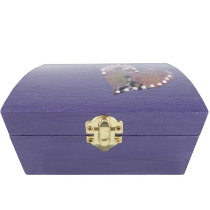 Naomi 14cm Wooden Trinket Box, painted and decoupaged gift