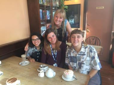 Post show tea at the Elephant House