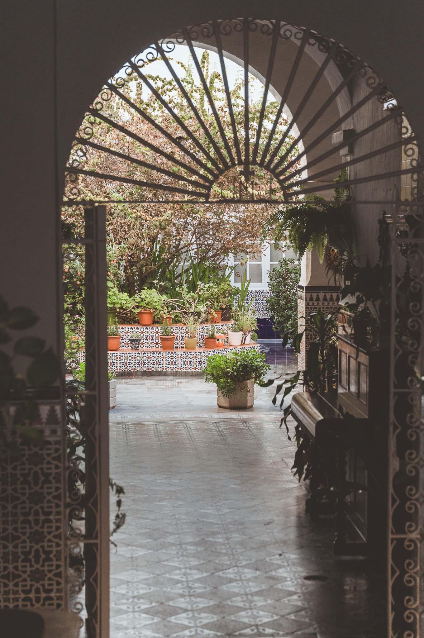 Klasyczne andaluzyjskie patio