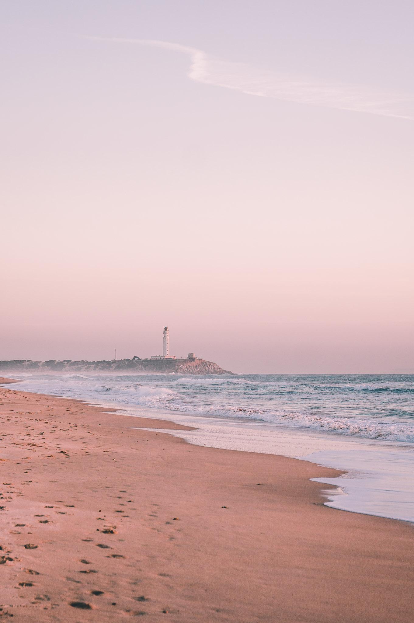 Latarnia morska na Cabo de Trafalgar, Hiszpania, Andaluzja