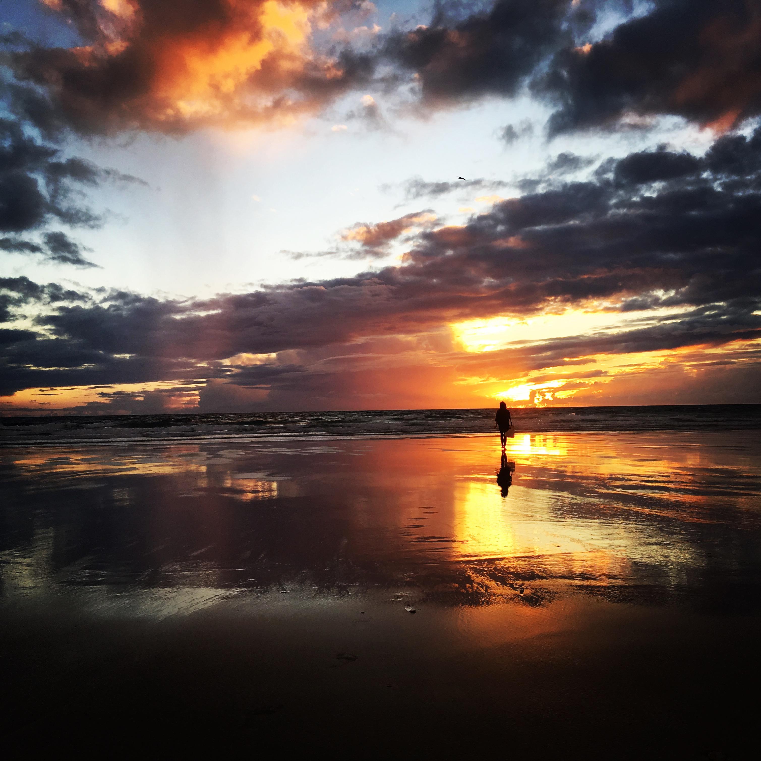 Conil - zachód słońca po burzy