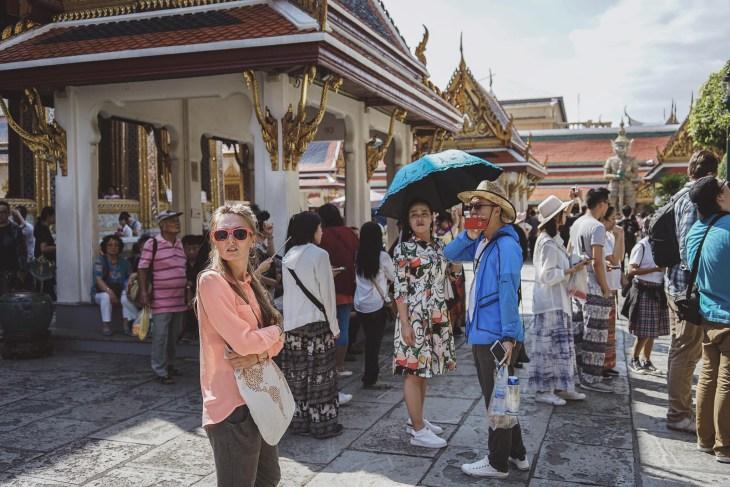 kompleks Grand Palace - tłumy turystów