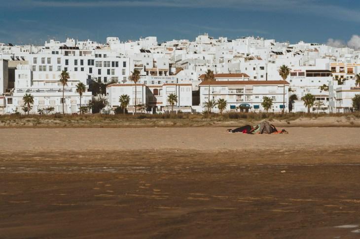 widok na Conil od strony plaży