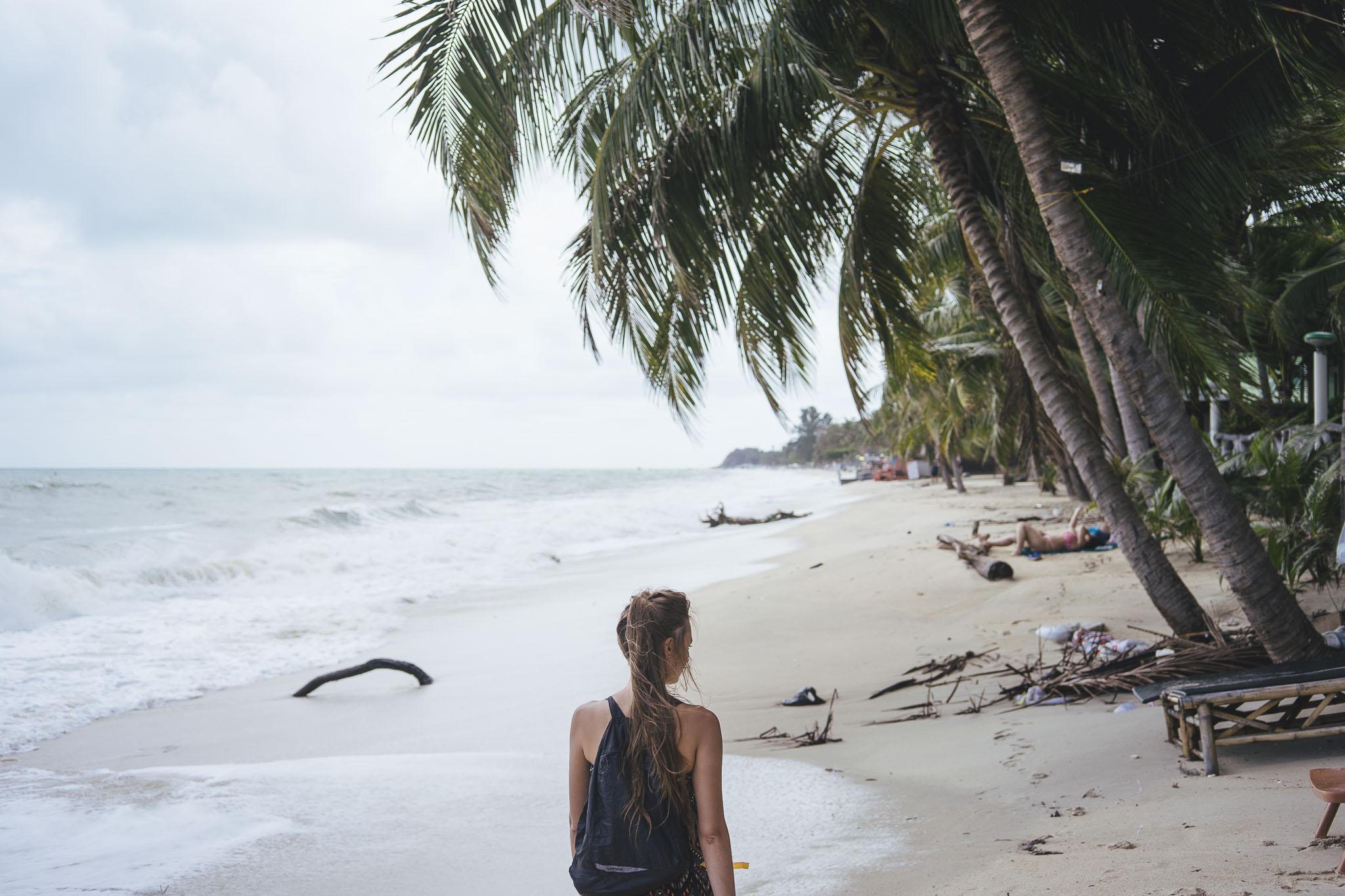 plaża Lamai po burzy