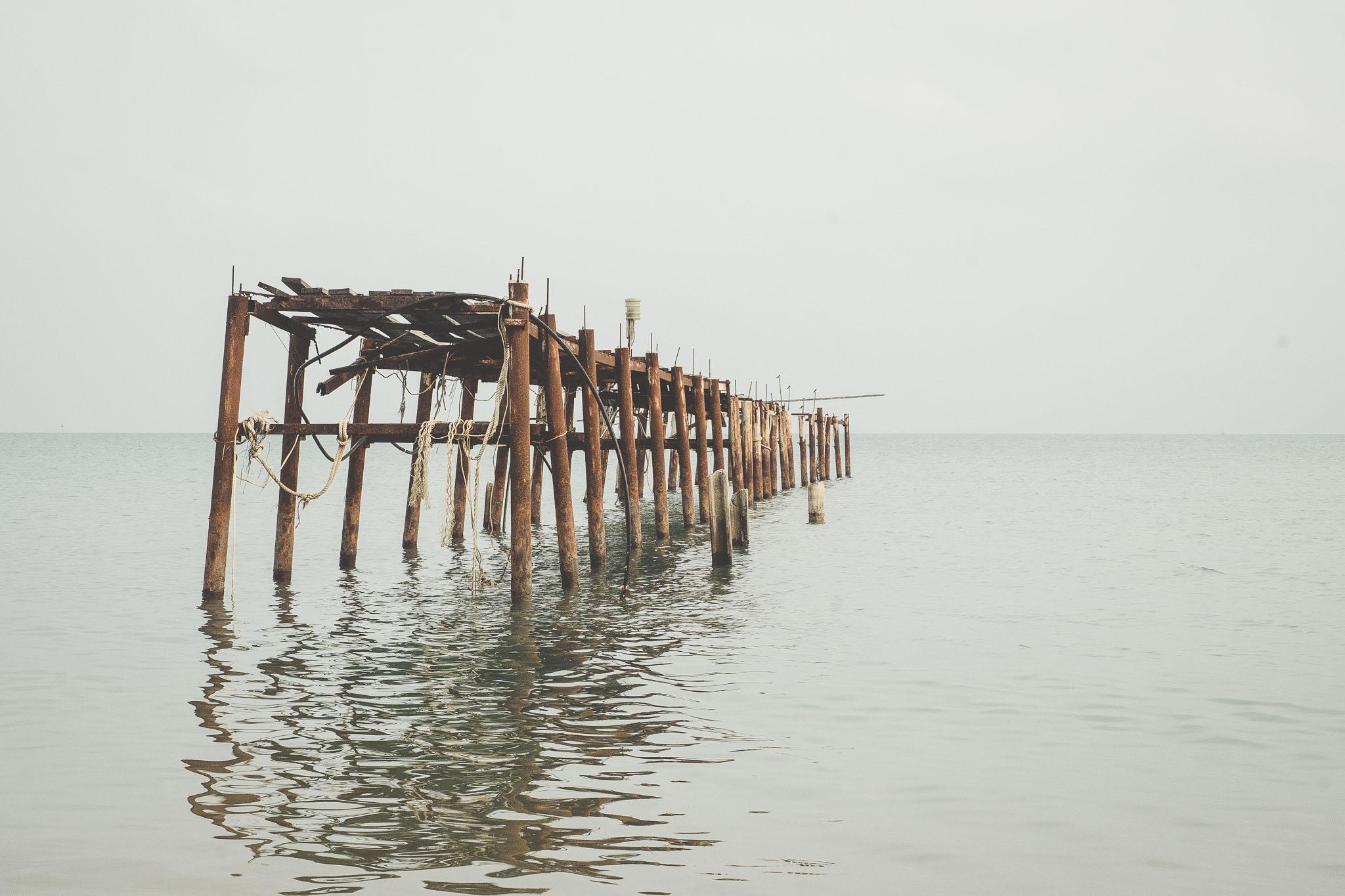 charakterystyczny widok na plaży Bophut