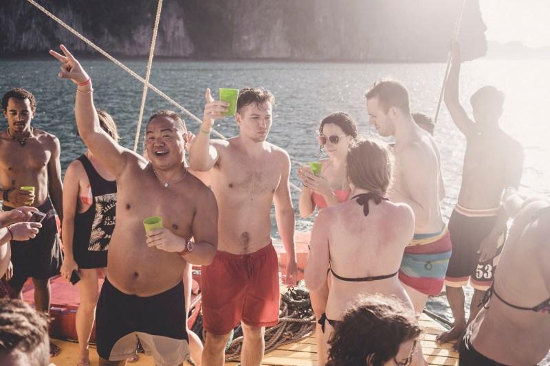 Imprezka na łodzi