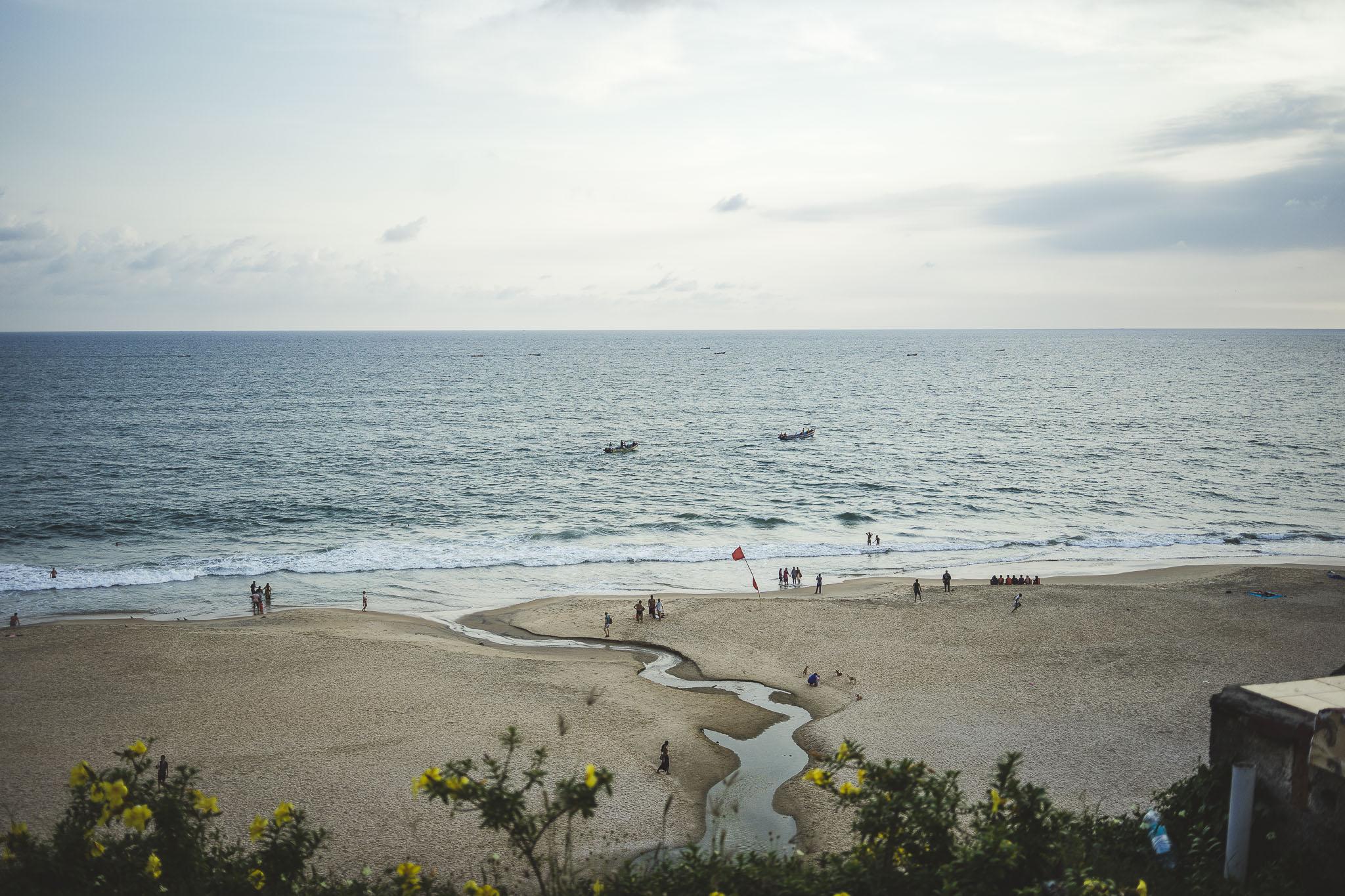 plaża w Varkali, Kerala, Indie