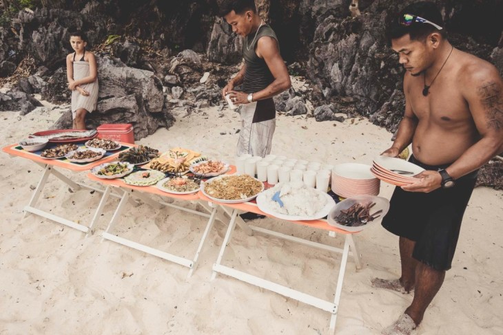grillowy lunch na island hopping