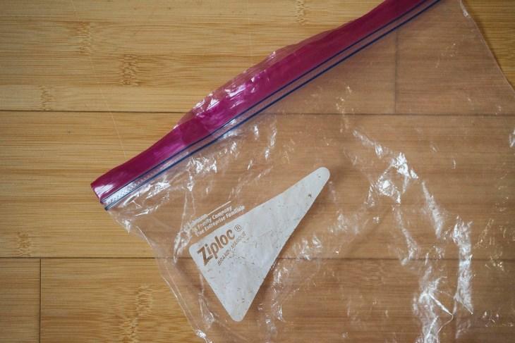 torebka z zapięciem strunowym, jak widać na zdjęciu - mocno wyksploatowane! :-)