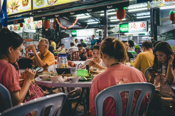 kolacja na Jalan Alor, stąd nie wyjdziecie głodni