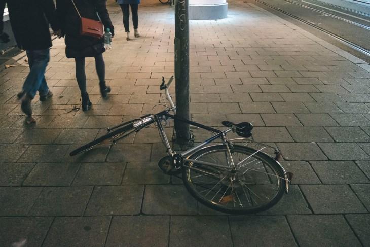 porzucony rower - nieformalna wizytówka Monachium ;-)