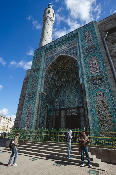Meczet w Petersburgu, w pobliżu stacji metra Gor´kowskaja
