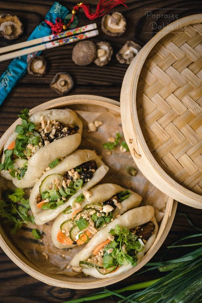 gua bao z grzybami