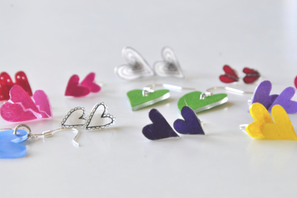 How To Make Heart Earrings Valentine S Diy Pop Shop America