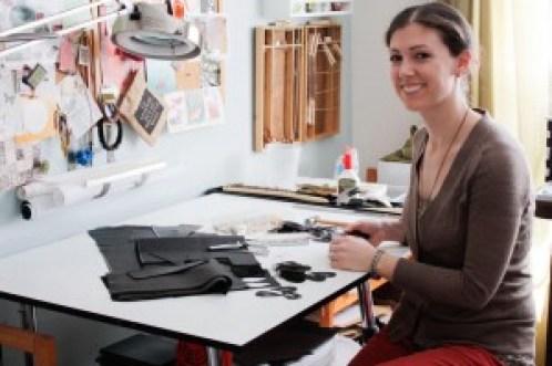 Sarah Mandell aka Once Again Sam Etsy Shop Owner Maker of Felt Art Terrarium Yarn Art Jewelry Maker