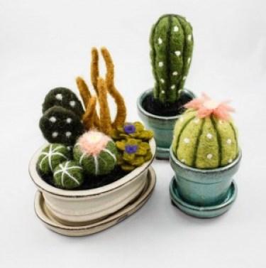 Handmade Felt Cactus | Handmade Felt Terrariums by Once Again Sam Etsy Shop