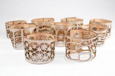 Laser Cut Bracelets Laser Cut Cuffs by Once Again Sam Etsy Shop
