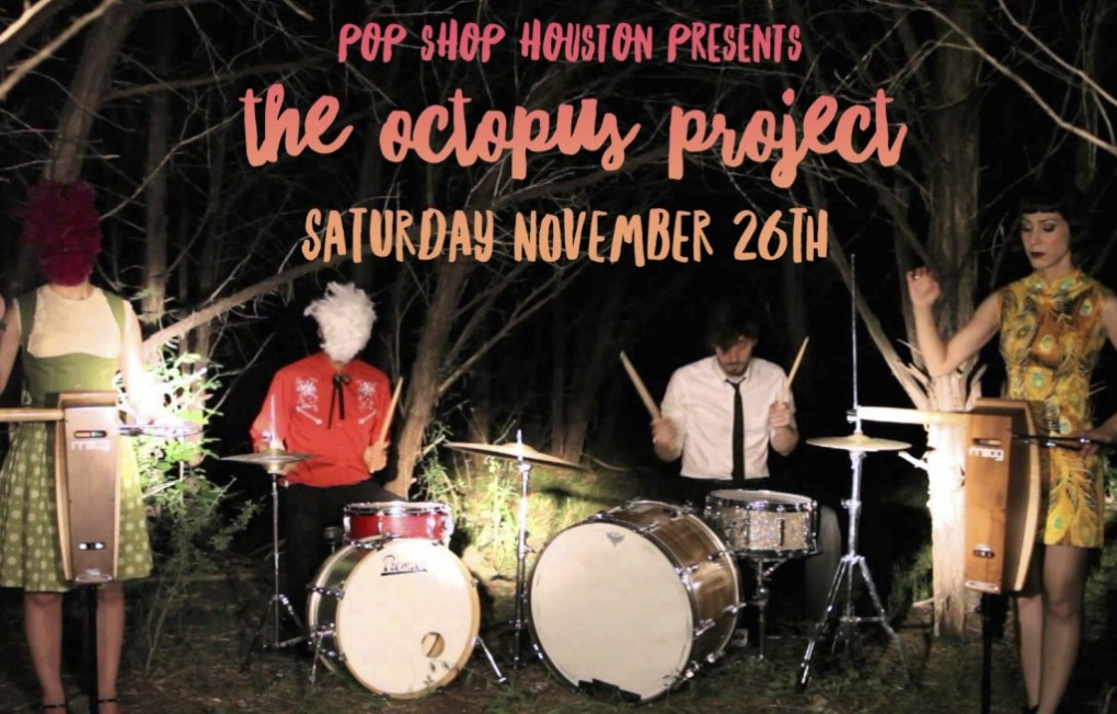 octopus project at pop shop houston 2016 promo
