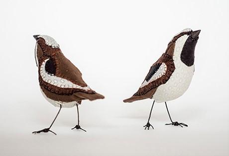 Lauren Porter Brown Birds | Bird Sculptures from the Pop Shop America Art Blog