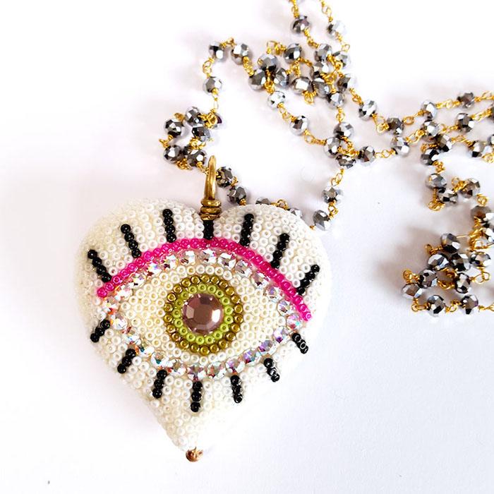 Evil Eye Necklace Jewelry in Houston Brass Thread Handmade Jewelry