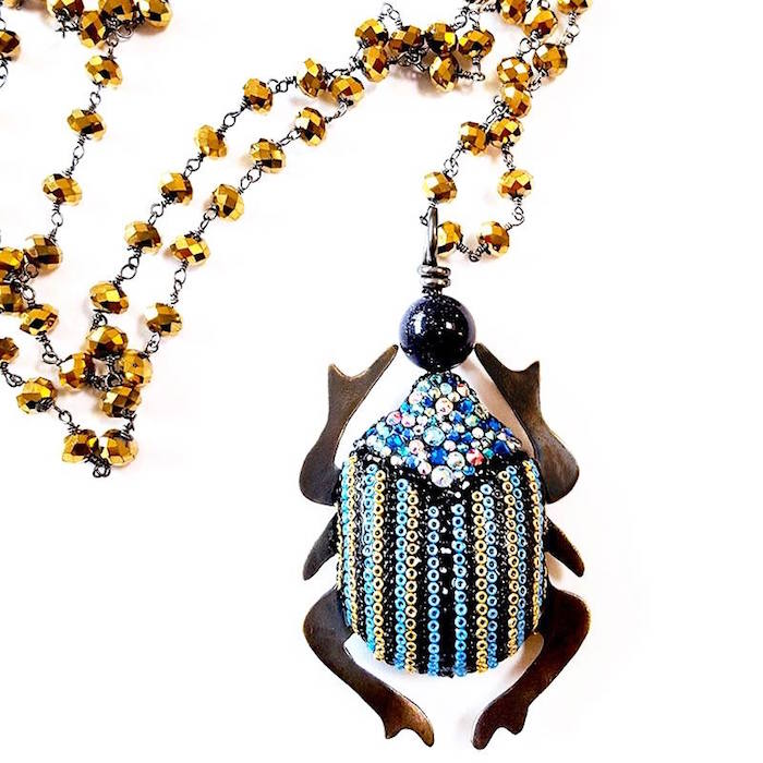 Brass Thread Houston Gorgeous Handmade Jewelry with Indian Seed Beads