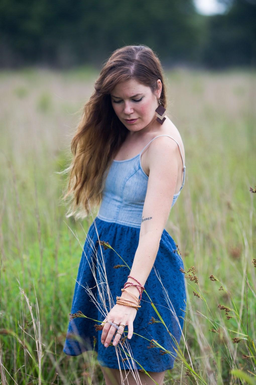 prairie grass finished boho leather bracelet diy blog post