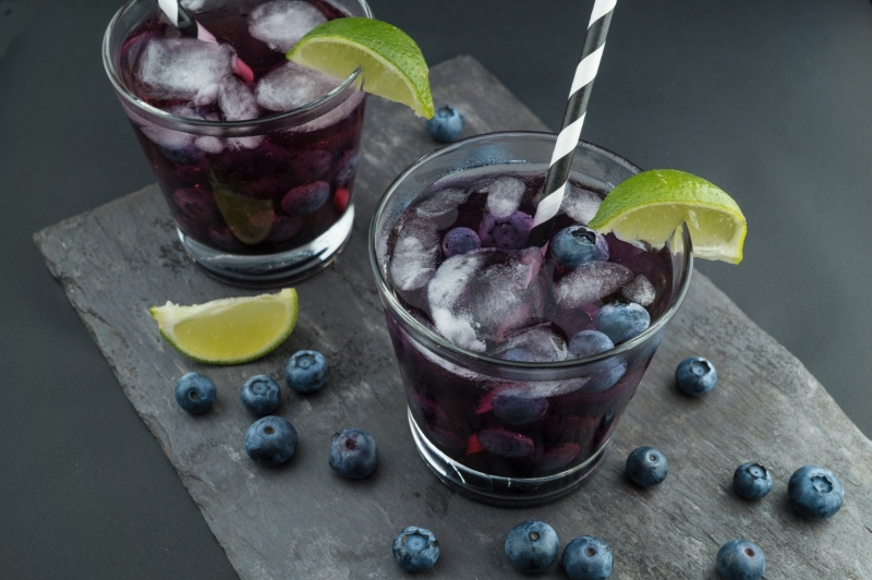 blackberry cocktail with blueberries dewberry recipe round up_small