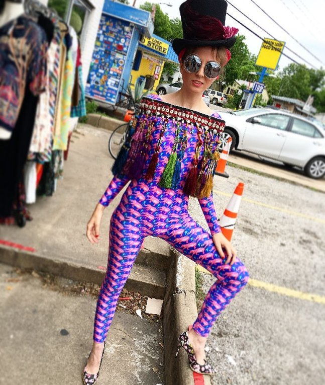 vintage new clothing styling Houston blogger Big Bertha's Paradise