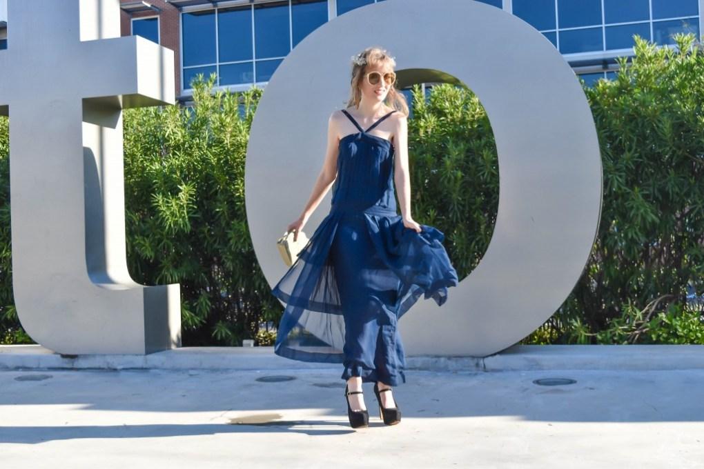 Houston blogger vintage Chanel Midtown Sofia Emm