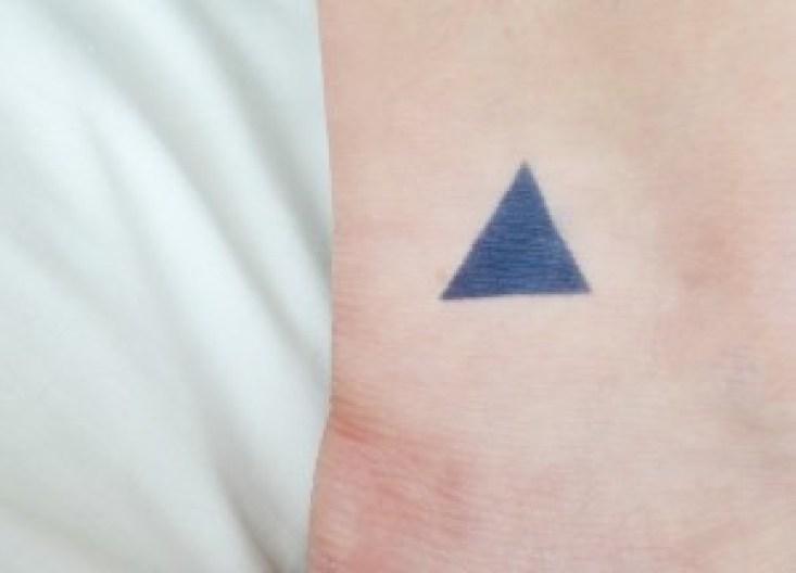 Temporary Tattoos - Triangle Tattoo DIY Ideas by Pop Shop America