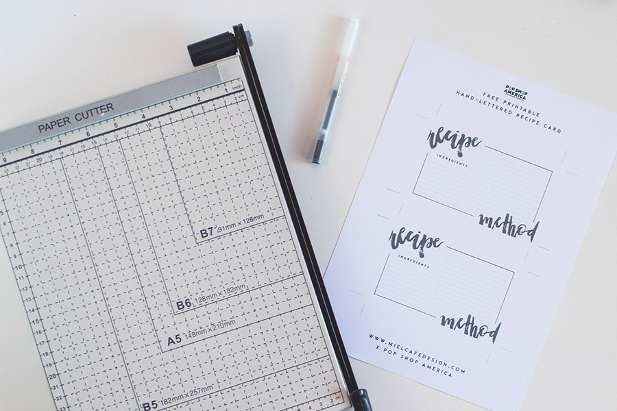 Hand-Lettered Printable Recipe Cards Tutorial Materials