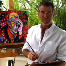 pierce brosnan artist diy