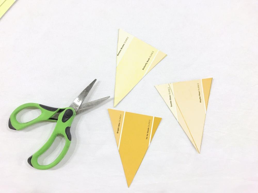 cut your triangles diy party garland pop shop america