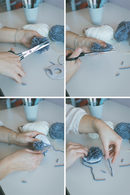 How to make a pompom for DIY pompom garland tutorial