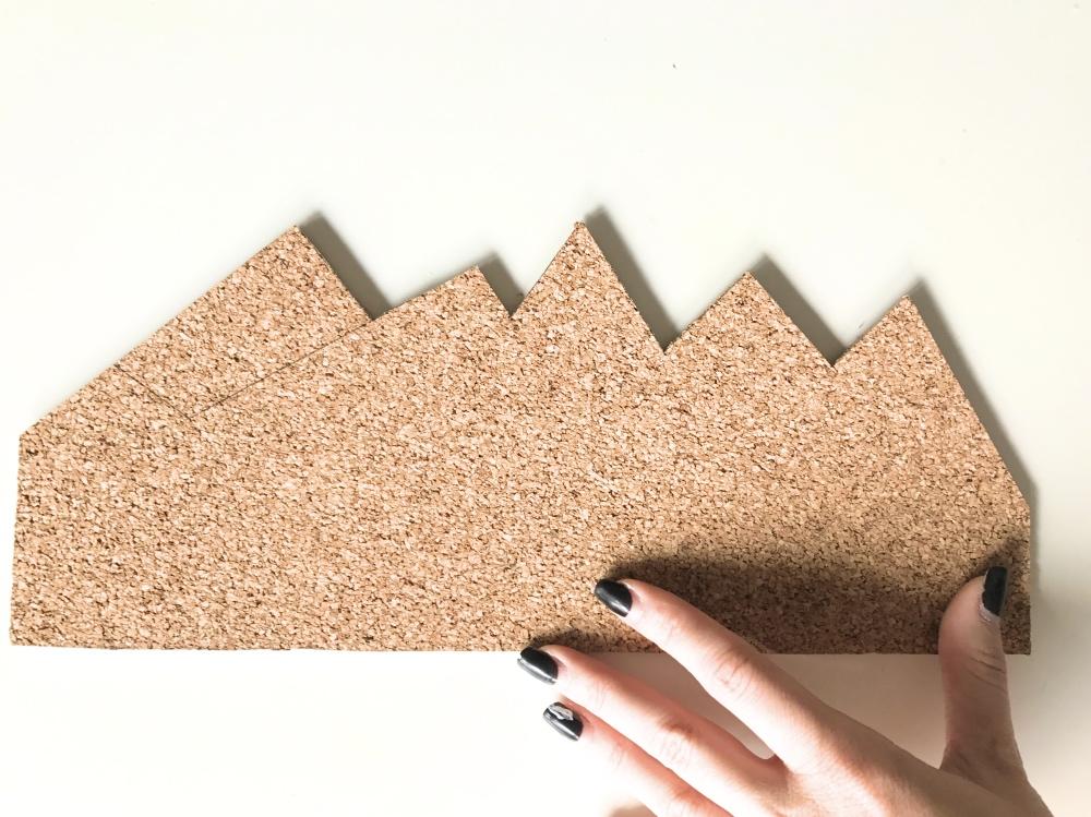 cork board in the shape of a mountain diy