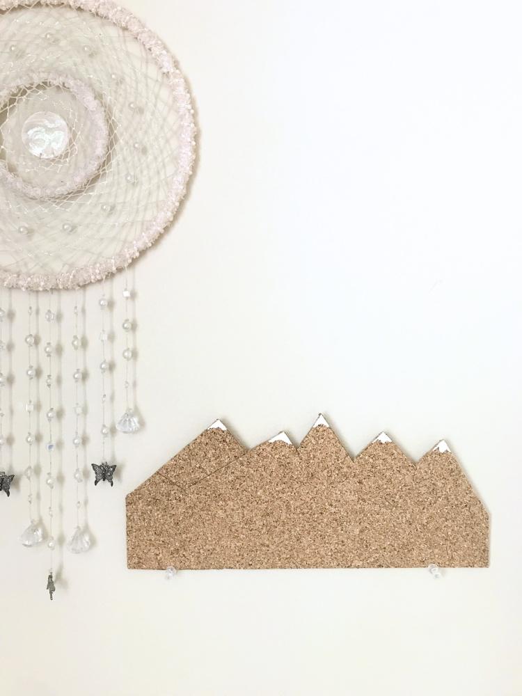 finished snowy mountain cork board diy pop shop america
