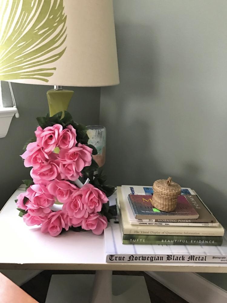 floral ampersand finished in living room pop shop america
