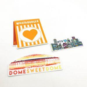 sticker set by anvil handmade in houston