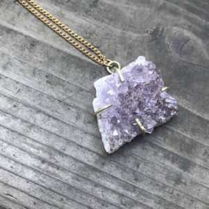 amethyst necklace by turquoise t rex houston jewelry