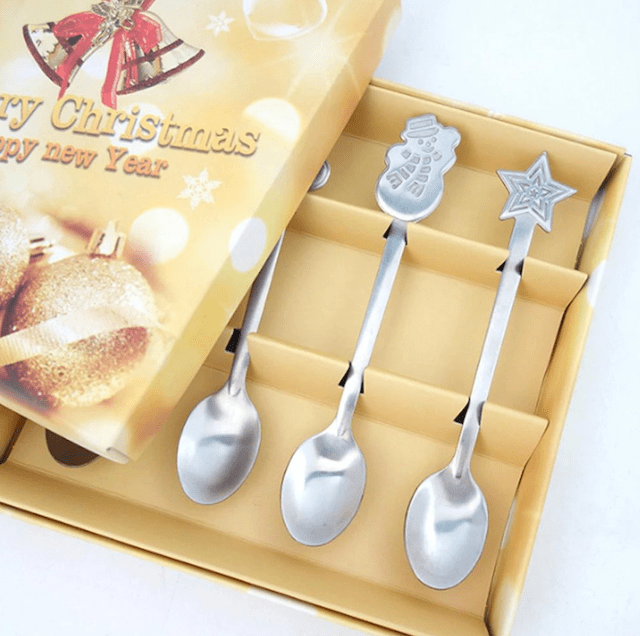 4 Pieces Of Christmas Style Teaspoon_Popsicle Society Shop