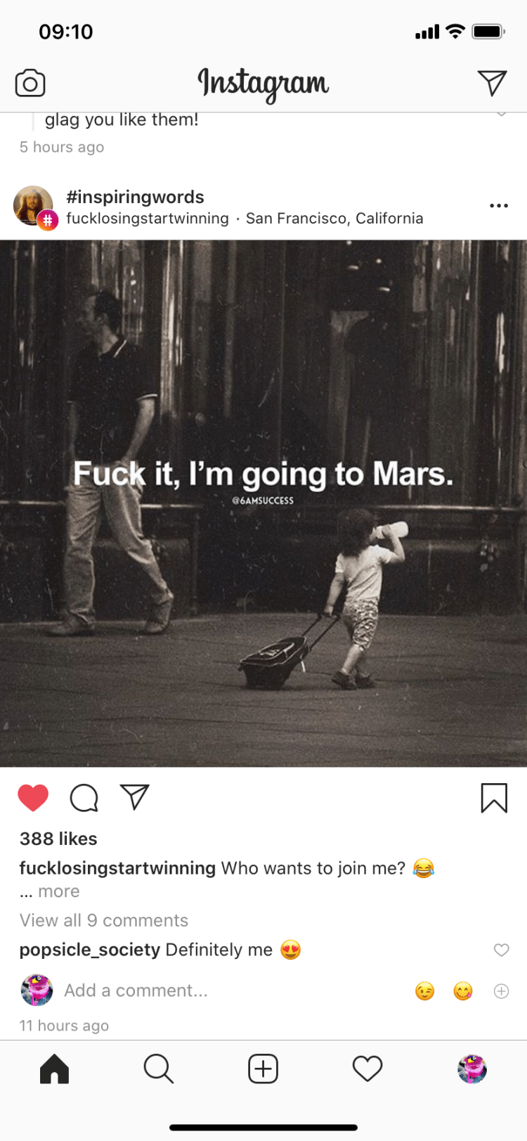 Fuck it, I'm going to Mars
