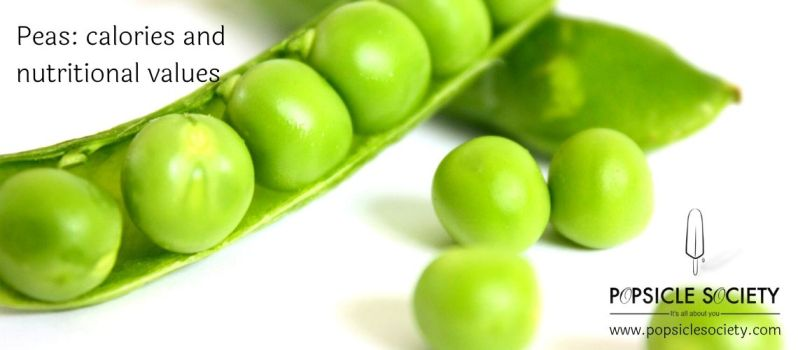 peas calories and nutritional values_Popsicle Society