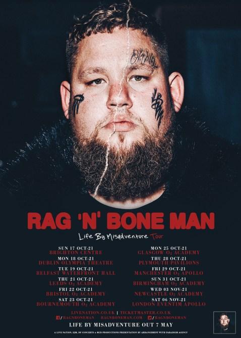 Rag'n'Bone man 2021 tour